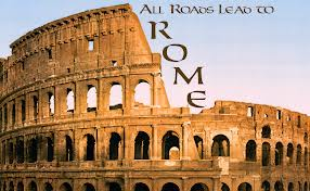 Italy Rome All Roads Lead to Rom