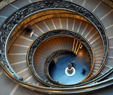 Italy Rome Vatican staircase